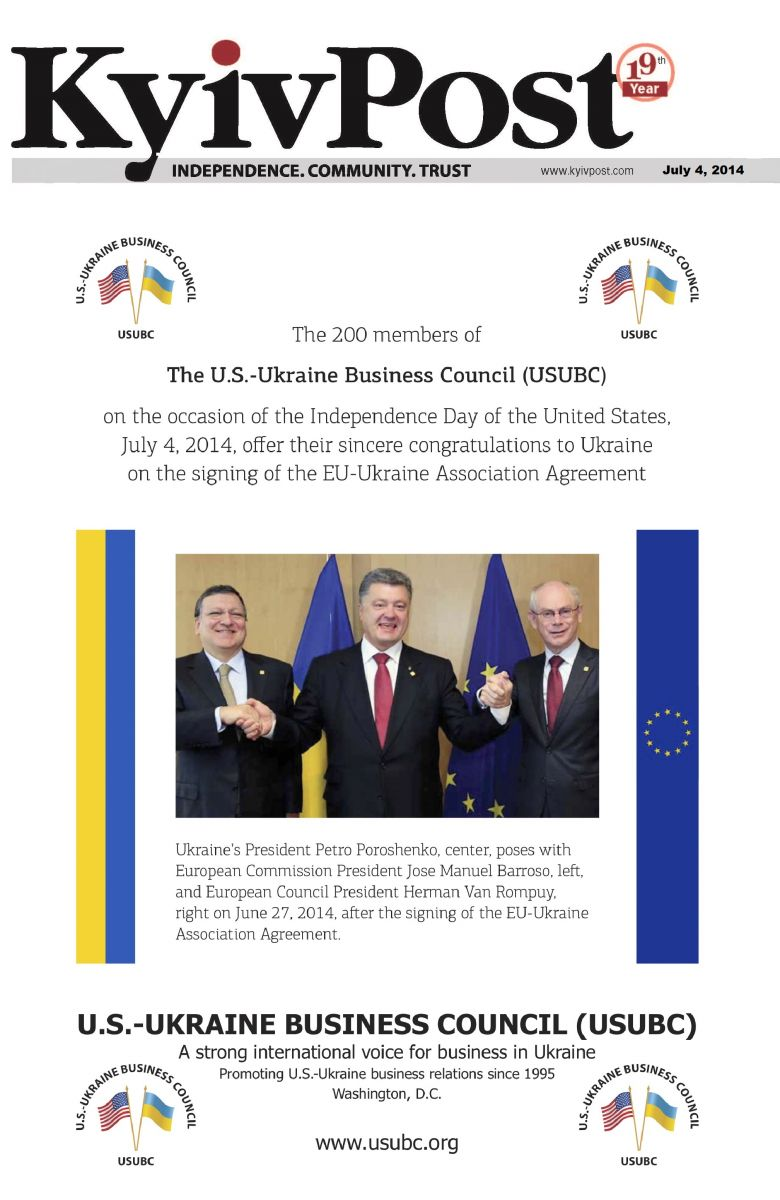 Usubc Offer Their Congratulations To Ukraine On The Signing Of The