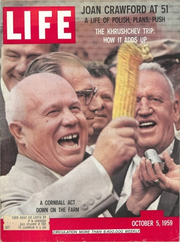 1959, October 5. KA. Soviet leader Nikita Khrushchev, US Tour. LIFE magazine front cover