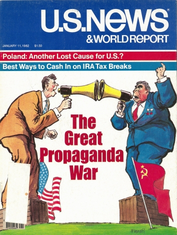 1982, January 11. AA. The Great Propaganda War Between the United States and the Soviet Union. U.S. News and World Report magazine front cover
