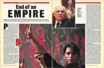 1991, September 9. QB. Newsweek Magazine. END OF AN EMPIRE. Special Report on the dissolution process of the U.S.S.R.