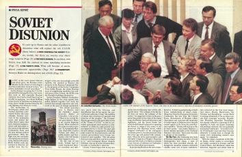 1991, September 9. RB. US News and World Report Magazine. SOVIET DISUNION. Special report on the dissolution of the U.S.S.R.