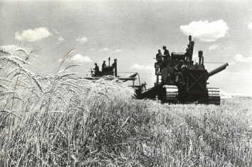 1941, May 2. AA. Soviet Ukraine. WHAT HITLER NEEDS. Ukraine accounts for 80 percent of Soviet Russia's Entire wheat crop. Collective and scientific farming, making use of tractors and mechanical combines, have increased the yield from Ukraine's millions of fertile acres. ACME Photo (Front)