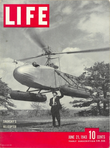 1943, June 23. BA. LIFE Magazine Front Cover. SIKORSKY'S HELICOPTER