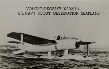 1940. AA. Vought-Sikorsky XS02U-1 U.S. Navy Scout Observation Seaplane (Front)